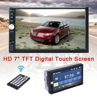 "7"" Touch Screen Double 2Din In Dash Car Stereo Radio Mp5 DVD Bluetooth TV Player"