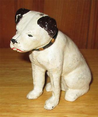 RCA Victor Phonograph Cast Iron Nipper Dog Vintage Penny Coin Bank