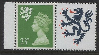 REGIONALS - SCOTLAND 1989 23p BRIGHT GREEN 2 BANDS MNH SG.S68. CAT. £12.