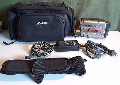 Sony Handycam DCR-TRV280 Digital-8 Camcorder W/Case/P.Supply & Battery Free Ship