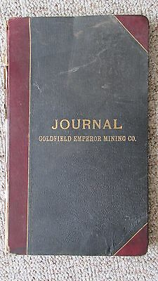1905 Goldfield Nevada Goldfield Emperor Mining Company Stock Owners Ledger-Mines