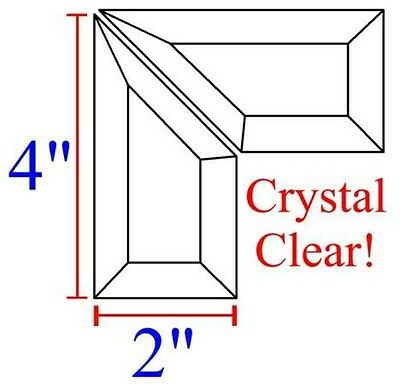 2x4 Stained Glass Corner Bevels - Left & Right - Box