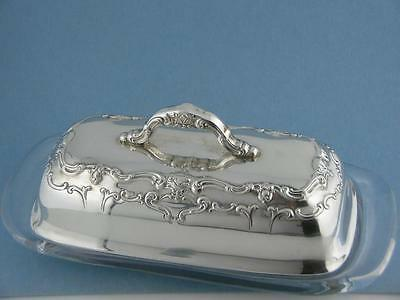 Rare Sterling GORHAM Butter Dish CHANTILLY COUNTESS no.1025 ~no mono