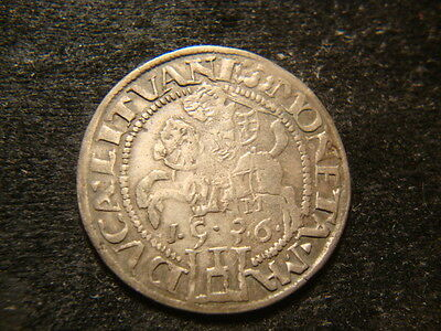 1536  XF Silver Six Groszy  Sigmisund Lithuania Empire GIGI