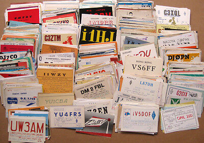 Massive Collection of 1500+ Amateur Radio QSL Cards dated 1960-1973