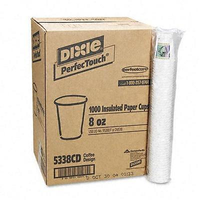 Dixie Coffee Dream Design PerfecTouch 8 oz Hot Cups (Case of 1000)
