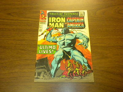 TALES OF SUSPENSE #77 Marvel Comics 1966 Iron Man and Captain America SILVER AGE