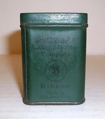 Vintage Burroughs Ribbon Tin,  2-1/4 Inches Tall