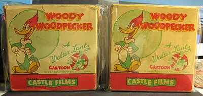 Woody Woodpecker 16 MM Movies 2 Different Castle Films