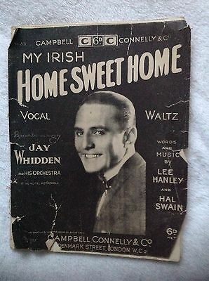 My Irish Home Sweet Home.Campbell Connelly.No.33.Sheet Music.Rare.Waltz.Antique