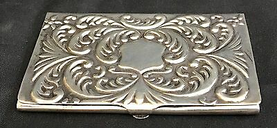 Sterling Business Card Holder Ornate
