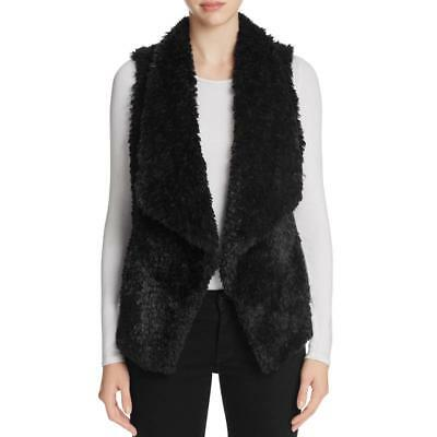 Calvin Klein 8451 Womens Faux Fur Open Front Sleeveless Casual Vest BHFO