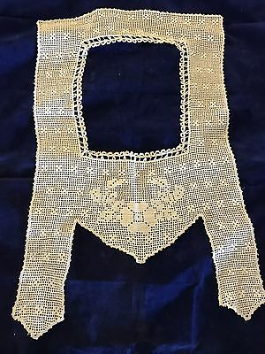 Incredible Exquisite Antique Crochet Lace Floral Collar Never Been Used!
