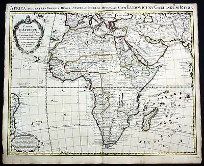 ca. 1730 Africa Afrika continent Kontinent map Karte Covens Mortier engraving