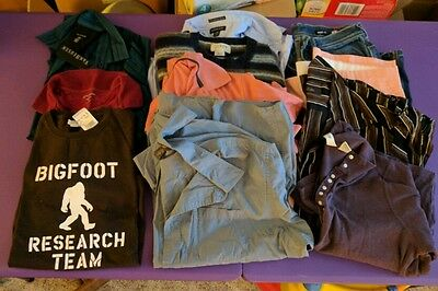 Mens Clothing Lot for Resale - Assorted Sizes/Brnd incl. Land's End, J. Crew