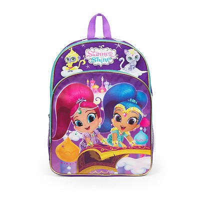 """SHIMMER & SHINE 16"""" Full-Size School Backpack w/ Optional Insulated Lunch Box"""