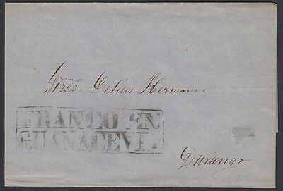 "MEXICO, 1868. Cover ""Sello Negro"", Guanacevi - Durango"