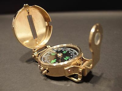 """Vintage Antique Style 3"""" WWII Folding Navigational Compass"""
