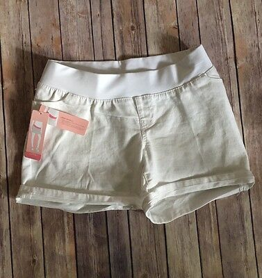 Liz Lange Women's White Maternity Jeans Shorts SZ Small Brand New Tags! (F91)