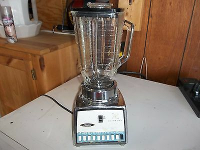 Vintage OSTERIZER Solid State GALAXIE TEN 10 Speed Blender Chrome Atomic Display