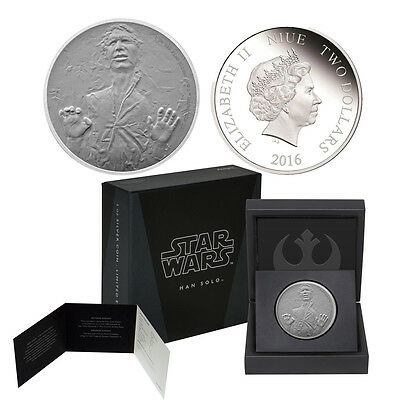 2016 Star Wars 1oz. Silver $2 Proof Coin Han Solo