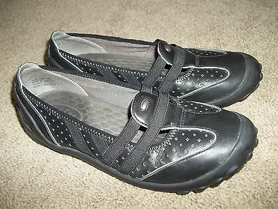 Womens 7.5 Wide CLARKS PRIVO Slip On Leather Athletic Loafers oxfords shoes