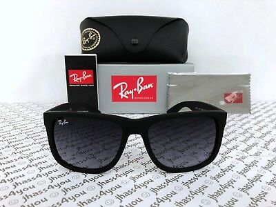 Ray-Ban Justin RB4165 601/8G Wayfarer Sunglasses/Matte Black/Grey Gradient 54mm
