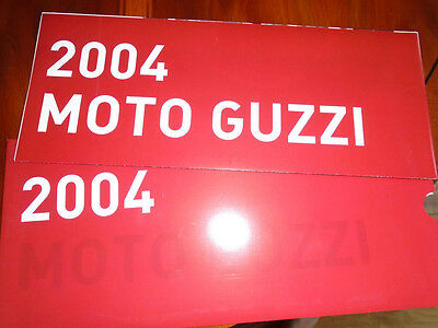 Moto Guzzi range brochure dated 2004 English text