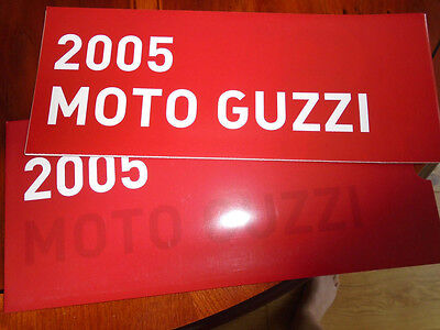 Moto Guzzi range brochure dated 2005 English text