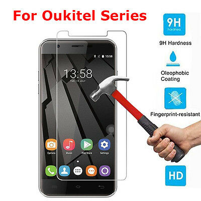 1~3x 2.5D 9H Premium Tempered Glass Screen Protector Film For Oukitel Series Lot