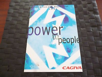 Cagiva Retail Price And Dealer List 2000 Power To The People *please Read*