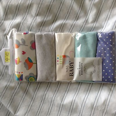 baby girls long sleeve vests upto 1 month marks and spencers  BNIB