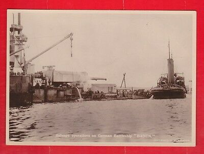 Salvage operations on German destroyer, Scapa flow, Orkney. C.W. Burrows, photo