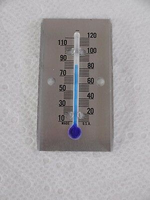 Five Old Stock Hard To Find 2 Inch Poultry Brooder Blue Thermometer Metal Holder