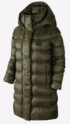 Nike Down Women's Parka 683908- Green Detach hood Duck Down  Large New with Tag