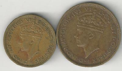 xx From Accumulation - 2 COINS.BRITISH WEST AFRICA.6p & 1 SHILLING..BOTH 1938