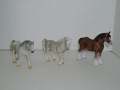 Lot of 3 Schleich Horses