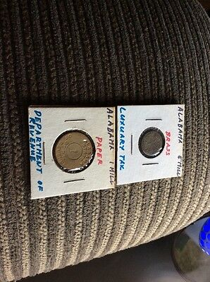 Lot Of 2 Alabama Sales Tax Tokens