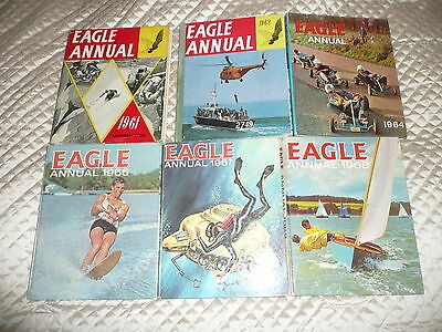 COLLECTION of 6 x EAGLE ANNUALS from 1960s issues 1961, 62, 64, 66, 67, & 68