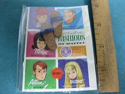 Vintage 1963, Ken Doll Booklet with pair of sandals, still factory sealed