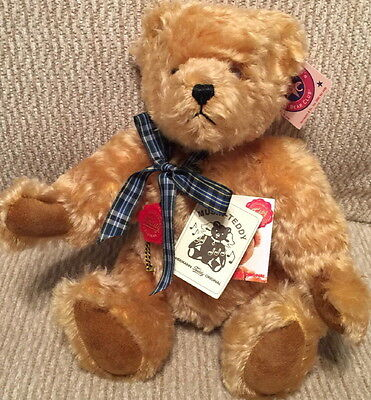 HERMANN Teddy Original MUSICAL Bear Plush Head Turns with Music #136/800 Germany