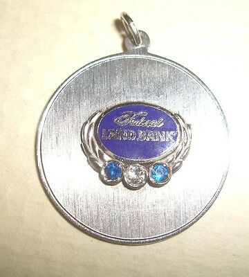 Vintage Federal Land Bank Jeweled Sterling Silver Pendant Anson