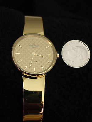 French Michel Herbelin Ladies Gold Bangle Watch ETA Swiss 7 Jewel