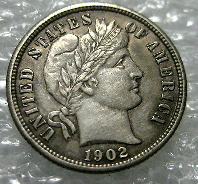 1902 S Barber Dime  Near Uncirculated