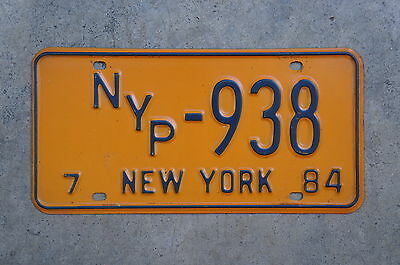 1984 New York NYP License Plate # 938