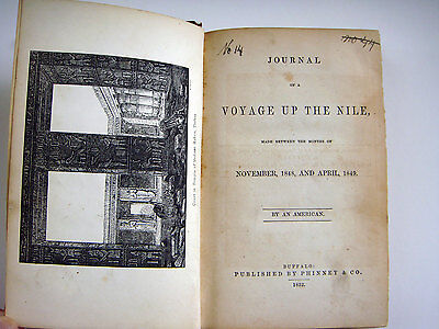 Journal of a Voyage Up the Nile 1848, 1849 by An American old travel book 1852