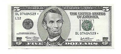 2003 $5 Federal Reserve STAR Note  GEM UNCIRCULATED STAR NOTE !