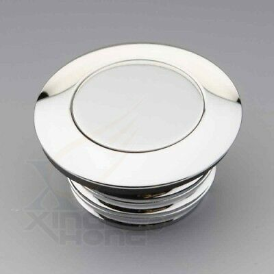 Chromed Non-Vented Pop-up Flush Mount Gas Cap  For Harley Softail  Super Glide