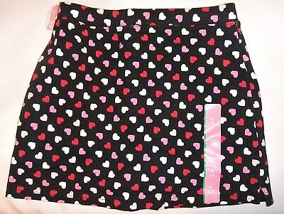 Nwt Girls Skort With Hearts~Size Med (7-8) Cute!