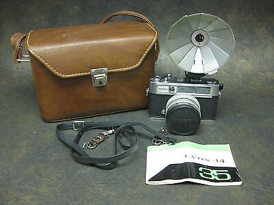 Vintage Yashica Lynx-14 35mm Film Camera With Extras